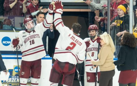 UMass hockey downs Denver in OT, advances to national championship game