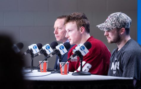 In a likely last hurrah, Cale Makar's appreciation for UMass was on full display