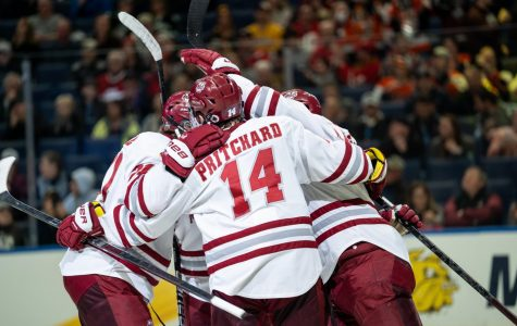 UMass hockey overcomes blown lead, key dismissals to top Denver in Frozen Four