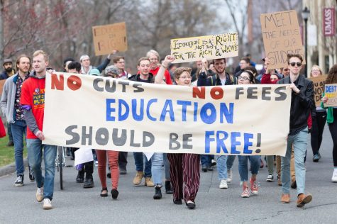 UMass student organizations hold march for college affordability