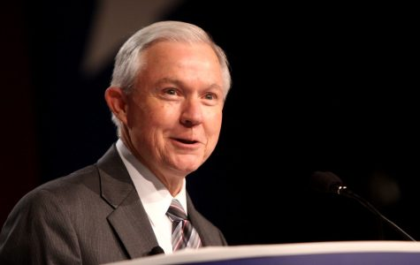 Former Attorney General Jeff Sessions speaks at Amherst College