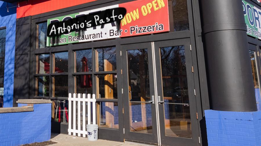 Morning Wood: Solve Porta's legal problems: Rename the restaurant 'Antonio's Pasta'