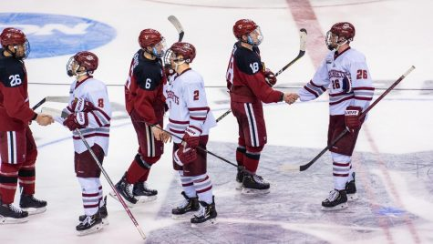UMass hockey rolls in 7-1 rout of AIC