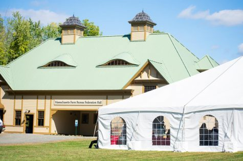 Historic rebuilt 19th century horse barn officially reopened at UMass ribbon cutting ceremony