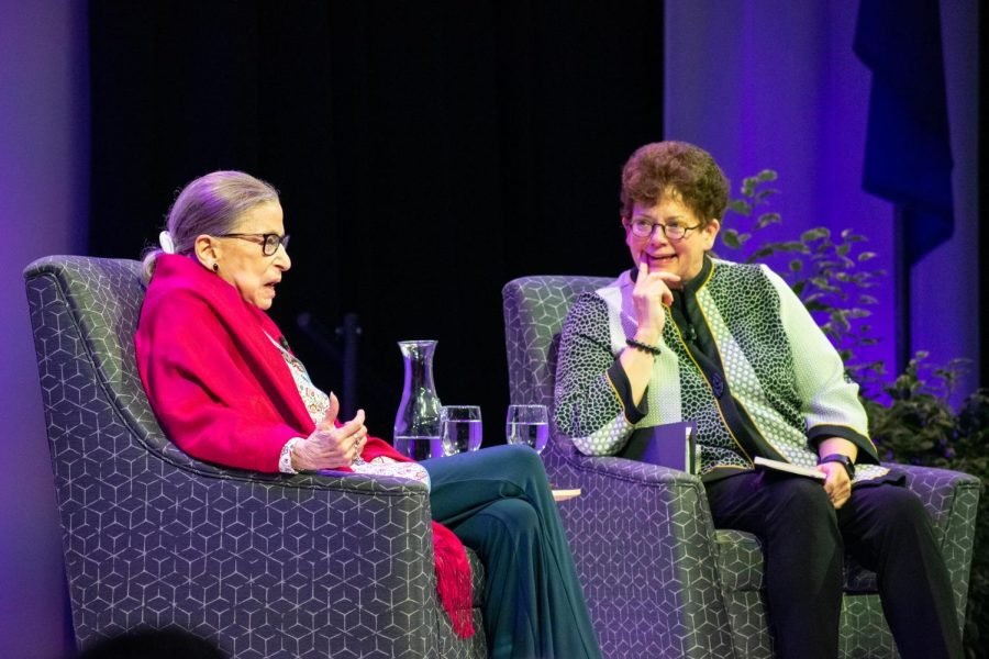 Justice Ruth Bader Ginsburg speaks at Amherst College