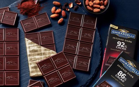 Ghirardelli makes chocolate bars that are both high in cacao content and easily available.