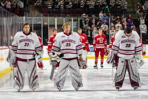 No. 13 BU completes weekend sweep of Minutemen with comeback win