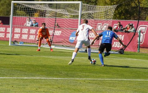 Brenner scores UMass men's soccer's first goals in a month for first A-10 win