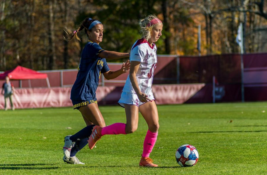 UMass women's soccer scores four goals in shootout against La Salle