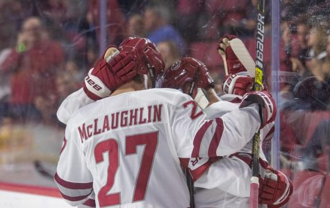 In a depleted back end, UMass hockey riding Jake McLaughlin's veteran presence early on