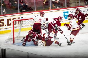 Filip Lindberg, last-minute defensive stand will UMass past BC on Friday