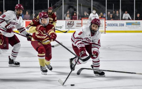 Eagles power play too much for UMass to handle in 6-3 loss on Saturday