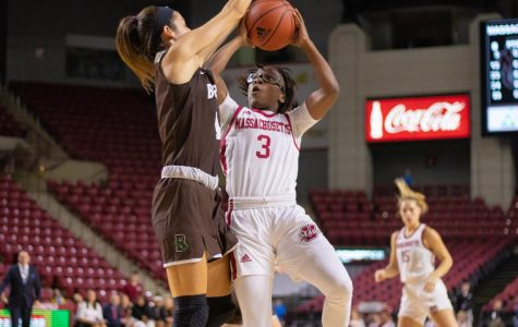 Minutewomen struggle from the field, fall at home to VCU