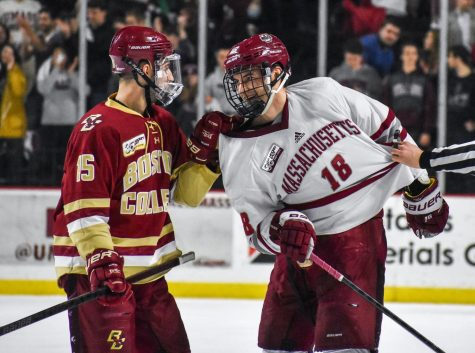 Fight for second place in the Hockey East