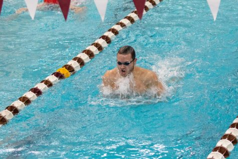 Swimming and diving teams split respective weekends
