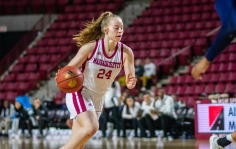 Leidel's 26 leads UMass women's basketball to 73-53 win over Rhode Island on Senior Day