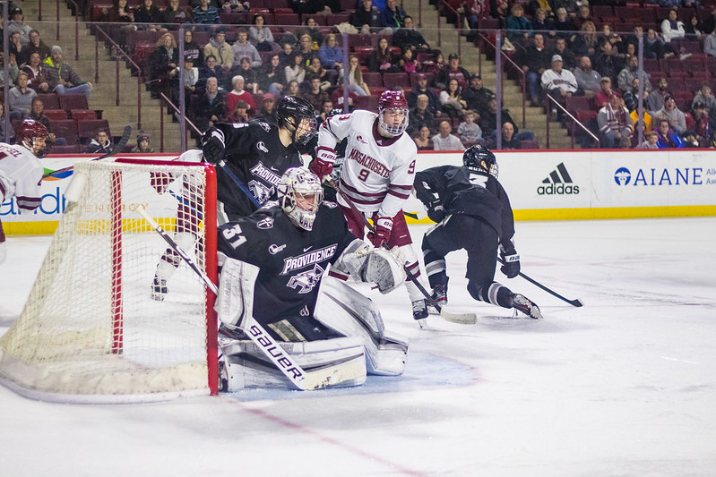 John+Leonard%E2%80%99s+hat+trick+leads+No.+8+UMass+past+No.+10+Providence%2C+5-1