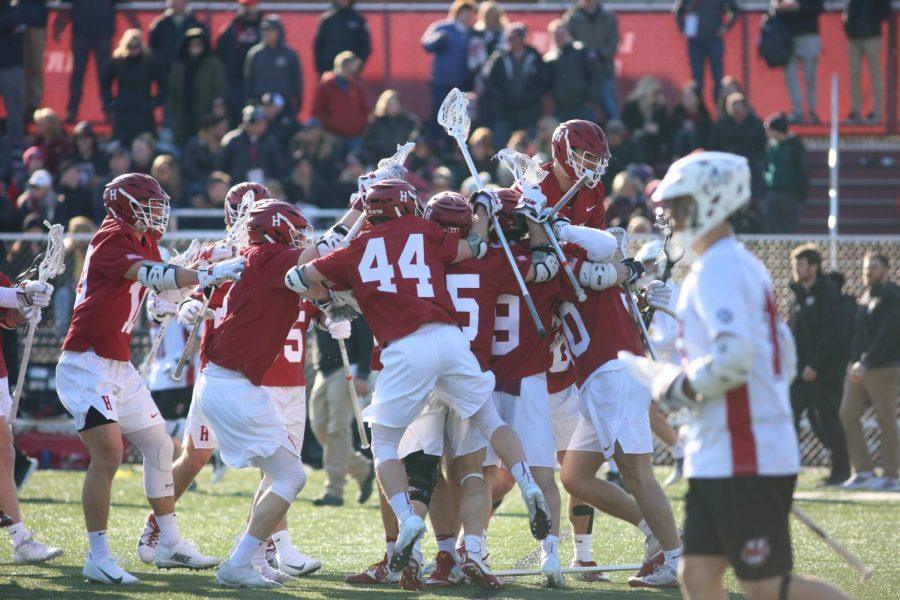 Men's lacrosse loses to Harvard in home opener