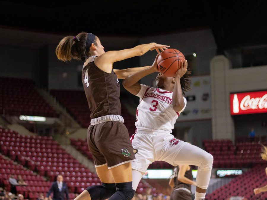 UMass women's basketball falls short in comeback effort at home against Fordham