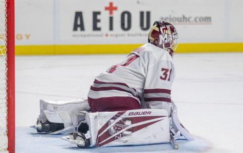 'I want one of them to get hot': UMass faces tough choice of picking a starting goalie for the playoffs