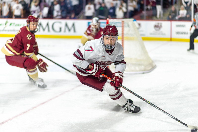 No. 9 UMass takes down No. 1 BC, 3-2, in overtime thriller