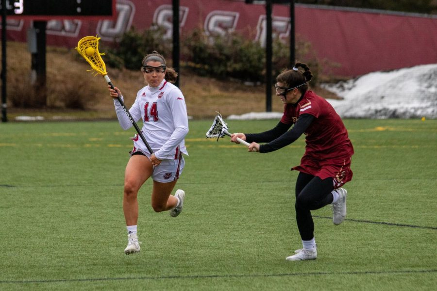 Strong faceoffs and outstanding defense lead the Minutewomen to their first win