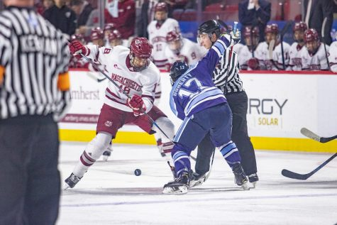 No. 6 UMass falls to Maine, 4-3, in a shootout