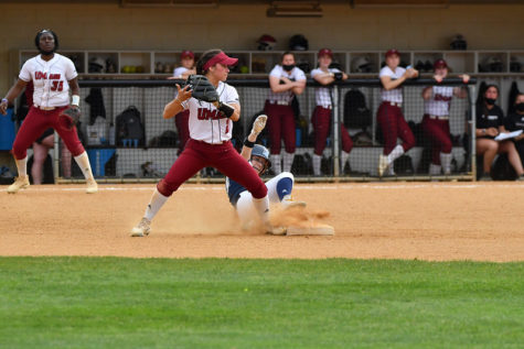 UMass softball splits doubleheader with URI