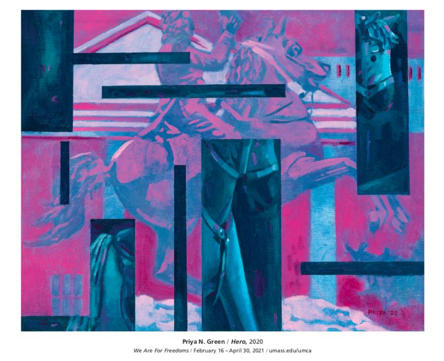 "Priya Nandkarni Green's piece titled ""Hero."" Courtesy of Amanda Herman"